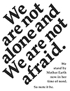 Not Afraid Black & White Flyer Image